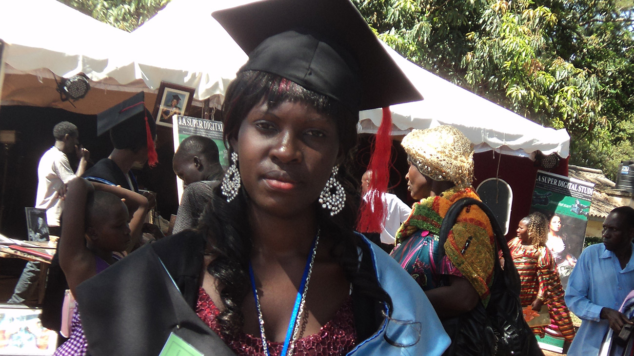 Female Uganda Student in Gradauation Cap