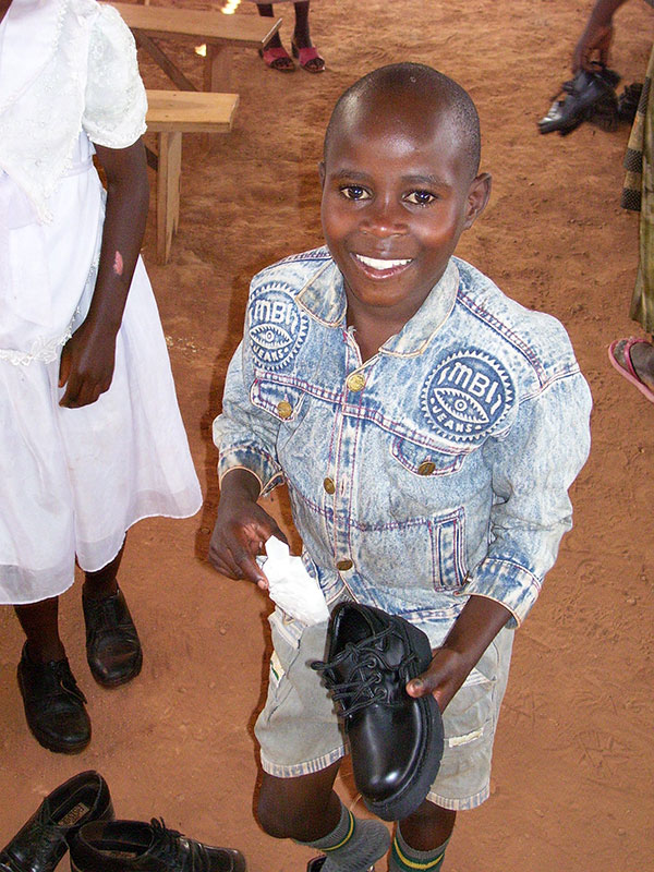 Little Boy with Shoes